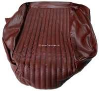 P 504, Kunstleder rot (Rouge 3306), Rohrgeflechtmuster, Sitzkissen mittlere Sitzbank Peugeot 504 Familiale.  Or.Nr.894746 - 78535 - Der Franzose