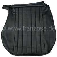 P 504, Kunstleder schwarz, mittig in Pfeifen abgenäht (perforiert). Sitzkissenbezug vorne. Passend für Peugeot 504. Or. Nr. 898596 - 78642 - Der Franzose