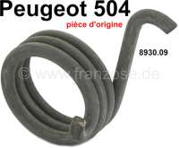 P 504, Feder für die Sitz Höhenverstellung. Passend für Peugeot 504, bis Baujahr Sommer 1973. Or. Nr. 8930.09 + 8939.10 / Original Peugeot, kein Nachbau - 78662 - Der Franzose