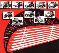 P 404, Heck - Jalousie . Passend für Peugeot 404 Coupe. Schnell eingebaut (Die Halterungen werden nur in das obere und untere Heckfenstergummi gesteckt). Ein typisches Zubehör aus den sechziger Jahren. Made In France - 77830 - Der Franzose