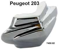 P 203, Chromspange (MOTIF) für die Stoßstange (per Stück). Passend für Peugeot 203, 1 Serie. Or. Nr. 7450.02 - 76850 - Der Franzose