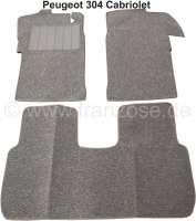 P 304, Teppichsatz. Material: Schlinge grau. Passend für Peugeot 304 Cabriolet.   78670   Der Franzose - www.franzose.de
