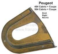 P 404/504, Gummi Unterlage rechts, für die Metallführung für den Schließkeil - Zentrierkeil. Passend für Peugeot 404 Cabrio + Coupe. Peugeot 504 Cabrio + Coupe. Montiert in der B-Säule. Or. Nr. 9179.05 - 77767 - Der Franzose