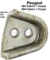 P 404/504, Schließkeil - Zentrierkeil Metallführung links. Passend für Peugeot 404 Cabrio + Coupe. Peugeot 504 Cabrio + Coupe. Montiert in der B-Säule. Or. Nr. 9179.02 - 77764 - Der Franzose