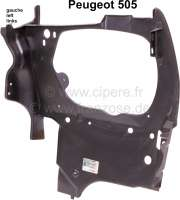 P 505, Scheinwerfer Frontblech links, Peugeot 505. Or.711360. 711348, 711356 - 77651 - Der Franzose