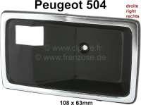 P 504, Türöffner - Türgriffschale innen rechts. Passend für Peugeot 504. Or. Nr. 9120.60. Der Türöffner passt vorne und hinten. Per Stück. - 77806 - Der Franzose