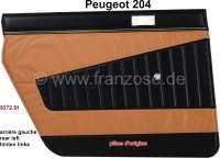 P 204, Türverkleidung hinten links. Farbe: Kunstleder beige-schwarz (Pain doré 3170). Passend für Peugeot 204 (Limousine), bis Salon 1970. Original Peugeot, kein Nachbau. Or. Nr. 9372.51 | 78245 | Der Franzose - www.franzose.de