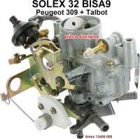 P 309/Talbot, Vergaser Solex 32BISA9 (kein Nachbau). Passend für Peugeot 309 + Talbot. Original SOLEX Vergaser, kein Nachbau. Or. Nr. Solex: 13405 000 - 71392 - Der Franzose