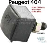 P 404, Gummianschlag eckig Strebenarm  Vorderachse. Montageort unten. Or.Nr.351409 - 73434 - Der Franzose