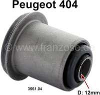 P 404, Silentbuchse Dreieckslenker. Passend für Peugeot 404. Innendurchmesser: 12mm. Außendurchmesser: 32mm. Länge innen: 50mm. Länge außen: 34mm. Or. Nr. 3561.04 - 73133 - Der Franzose