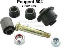 P 504, Radführung Reparatur Satz (pro Seite). Passend für Peugeot 504, bis Baujahr 06/1985. Bestehend aus: 4x Silentlager, 1x Lagerungsbolzen (Querlenker) - 73024 - Der Franzose