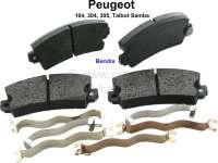 P 104/304/305, Bremsklötze Nachbau, Peugeot 104, 304, 305, Talbot Samba. System Bendix, 108,9mm breit, 49mm hoch, 14mm dick. - 74575 - Der Franzose