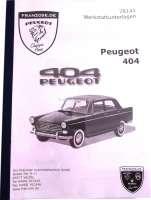 P 404, Werkstatthandbuch Peugeot 404 incl. Coupe, Cabrio, 63>73 deutsch, ca. 550 Seiten - 78141 - Der Franzose