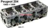 P 204, Zylinderkopf neu. Passend für Peugeot 204, von Salon 1968 bis Salon 1969 (einteiliger Zylinderkopf). Original Peugeot, kein Nachbau. Or. Nr. 0201.77 - 70832 - Der Franzose