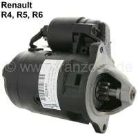 Anlasser (im Austausch), passend für Renault R4 (112, R1128, S128, R2391, R2106). Renault R5 + R6, Estafette. 12 Volt. Leistung: 1,20KW. Befestigungslöcher: 3. Einbaulage: 57°. Zuzüglich Altteilpfand: 60 Euro. - 82131 - Der Franzose