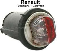 Parkleuchte (Positionsleuchte), rot - weiß. Passend für Renault R4 L. Renault Caravelle, R8, R10 - 85385 - Der Franzose