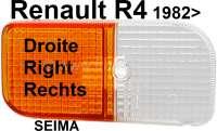 R4, Blinkerkappe vorne rechts. Passend für Renault R4, ab Baujahr 1982. Für Leuchtenhersteller Seima. - 85143 - Der Franzose