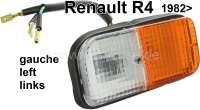 R4, Blinker + Standlicht komplett, vorne links. Farbe: weiß - orange. Passend für Renault R4, ab Baujahr 1982. - 85080 - Der Franzose
