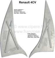 4CV, Dreiecksbleche (2 Stück) Bodenblech, passend für links + rechts. Für Renault 4CV. - 87884 - Der Franzose