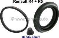 R4/R5, Bremssattel Dichtsatz. Bremssystem: Bendix. Passend für Renault R4 + R5. Kolbendurchmesser: 45mm. Die Staubmanschette ist ca. 7mm hoch. - 84231 - Der Franzose