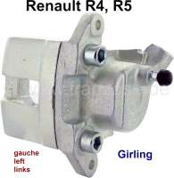 R4/R5, Bremssattel, vorne links (Neuteil). Bremssystem: Lucas-Girling. Passend für Renault R4 + R5. Kolbendurchmesser: 45mm. Or. Nr. 7701201168 - 84121 - Der Franzose