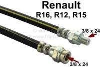 R16/R12/R15, Bremsschlauch vorne (links + rechts passend). Passend für Renault R16, von Baujahr 1965 bis 1976. Renault R12, R15. 1x Innengewinde 3/8 x 24h. 1x Außengewinde: 3/8 x 24h. Or. Nr. 7701348758 - 84132 - Der Franzose