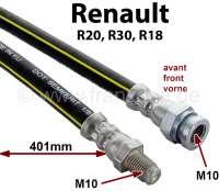 R20/R30/R18, Bremsschlauch. Länge: 401mm Länge. Gewinde: 1x Innengewinde M10x1. 1x Außengewinde M10x1. - 84371 - Der Franzose