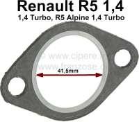 Dichtung Hosenrohr. Passend für Renault R5 1,4 + 1,4 Turbo. R5 Alpine 1,4 Turbo. Per Stück! Innendurchmesser: 41,5mm. - 80115 - Der Franzose