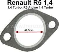 Dichtung Hosenrohr. Passend für Renault R5 1,4 + 1,4 Turbo. R5 Alpine 1,4 Turbo. Per Stück! Innendurchmesser: 41,5mm. | 80115 | Der Franzose - www.franzose.de