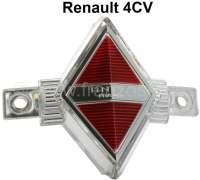 4CV, Emblem Frontgrill, dritte Serie. Passend für Renault 4CV, ab Baujahr 1954 (Autos mit 3 Zierleisten vorne). - 87722 - Der Franzose