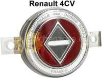 4CV, Emblem Frontgrill, zweite Serie. Passend für Renault 4CV, von Baujahr 1953 bis 1954 (nur Autos nach den Sommerferien im Jahr 1953 + 1954). Or. Nr. 8 527 831 - 87723 - Der Franzose