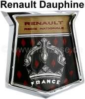 Dauphine, Front Emblem. Passend für Renault Dauphine. Hochwertige Nachfertigung mit Metallrahmen. - 87744 - Der Franzose