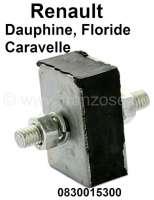 Caravelle/Floride/Dauphine, Silentblock (viereckig), für das Schaltgestänge. Passend für Renault Dauphine, Caravelle + Floride. Or. Nr. 0830015300 - 82465 - Der Franzose
