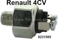 4CV, Bremslichtschalter 1 Serie. Passend für Renault 4CV, bis Ident. Nr. 5400220. Gewinde: 1/8 x 27NPTF. Or. Nr. 8231505 | 84363 | Der Franzose - www.franzose.de