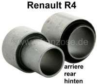 R4, Silentbuchse (2 Stück) für die Lagerung der Hinterachsschwinge (pro Seite). Passend für Renault R4. - 83030 - Der Franzose