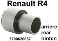 R4, Silentbuchse (per Stück) für die Lagerung der Hinterachsschwinge. Passend für Renault R4. Abmessung innen: 27mm. Außen: 45mm. Länge: 65mm + 27mm. - 83033 - Der Franzose