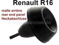 R16, Gummipuffer auf dem Heckabschlußblech (Kofferraumklappe). Passend für renault R16. Or. Nr. 0608214100 + 7700554557 - 87854 - Der Franzose