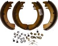 Bremsbackensatz hinten, System Bendix. Bremstrommeldurchmesser: 254mm. Belagbreite: 47mm. Passend für Renault Trafic, von Baujahr 1980 bis 1989. -1 - 83145 - Der Franzose