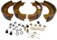 Bremsbackensatz hinten, System Bendix. Bremstrommeldurchmesser: 254mm. Belagbreite: 47mm. Passend für Renault Trafic, von Baujahr 1980 bis 1989. -2 - 83145 - Der Franzose