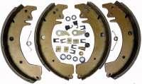 Bremsbackensatz hinten, System Bendix. Bremstrommeldurchmesser: 254mm. Belagbreite: 47mm. Passend für Renault Trafic, von Baujahr 1980 bis 1989. - 83145 - Der Franzose