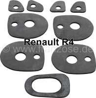 R4, Türgriff + Kofferraumgriff Gummiunterlagen (für 5 Griffe). Für Türgriffe aus Kunststoff. Passend für Renault R4. Made in Germany. - 87799 - Der Franzose