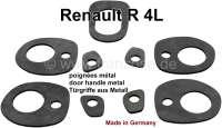 R4, Türgriff + Kofferraumgriff Gummiunterlagen (5 Stück). Für Türgriffe aus Metall. Passend für Renault R4. Made in Germany. - 87320 - Der Franzose