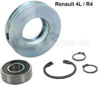 R4, Keilriemenspannrolle komplett mit Riemenscheibe. Passend für Renault R4.   80178   Der Franzose - www.franzose.de
