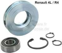R4, Keilriemenspannrolle komplett mit Riemenscheibe. Passend für Renault R4. - 80178 - Der Franzose