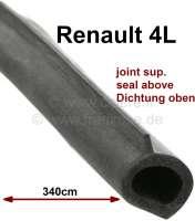 R4, Heckklappendichtung oben. Passend für Renault R4 Limousine. Gesamtlänge: ca. 340cm. Original Lieferant. Kein Standardprofil! - 87203 - Der Franzose