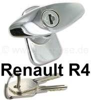 R4, Kofferraumschloss (Heckklappenschloss, Griff) außen, verchromt. Passend für Renault R4. - 87286 - Der Franzose
