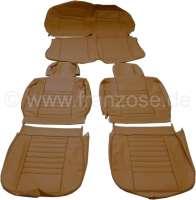 R4, Sitzbezüge vorne + hinten (als Ersatz für die defekten Sitzbezüge), aus Kunstleder. Farbe: caramel. Passend für Renault R4, ab Baujahr 1980. | 88044 | Der Franzose - www.franzose.de