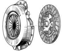Kupplung komplett. Passend für Renault R16 (1565ccm + 1647ccm). Renault R15 TS + TL. R17 1600TL. Durchmesser: 200mm. - 82579 - Der Franzose