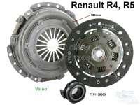 Kupplung komplett. Passend für Renault R4 (956ccm + 1108ccm), von Baujahr 1977 bis 1992 (R1128, 112C, S128, 210B, 239B, R2370 Chassis N° 153413 -> N°) . Renault R5, R7, R12. Die Kupplung hat 180mm Durchmesser, die Mitnehmerscheibe 20 Zähne. Markenqualität (SACHS/Valeo). Or. Nr. 7711130003 (komplett). 7701349936 (Mitnehmerscheibe). 7711130000 (Druckplatte). 7701348231 (Ausrücklager). - 82118 - Der Franzose