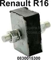 R16, Silentblock eckig für die Kupplungszugbefestigung, passend für Renault R16. Or.Nr. 0830051600 + 0830015300. - 82917 - Der Franzose